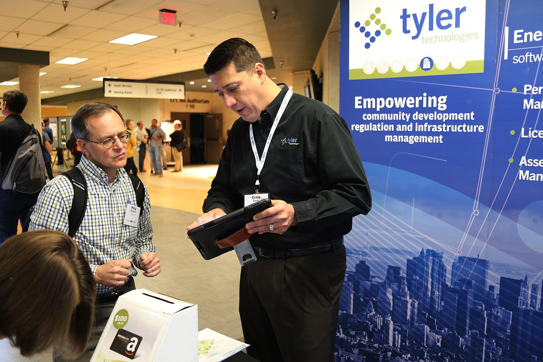 Tyler Technologies booth