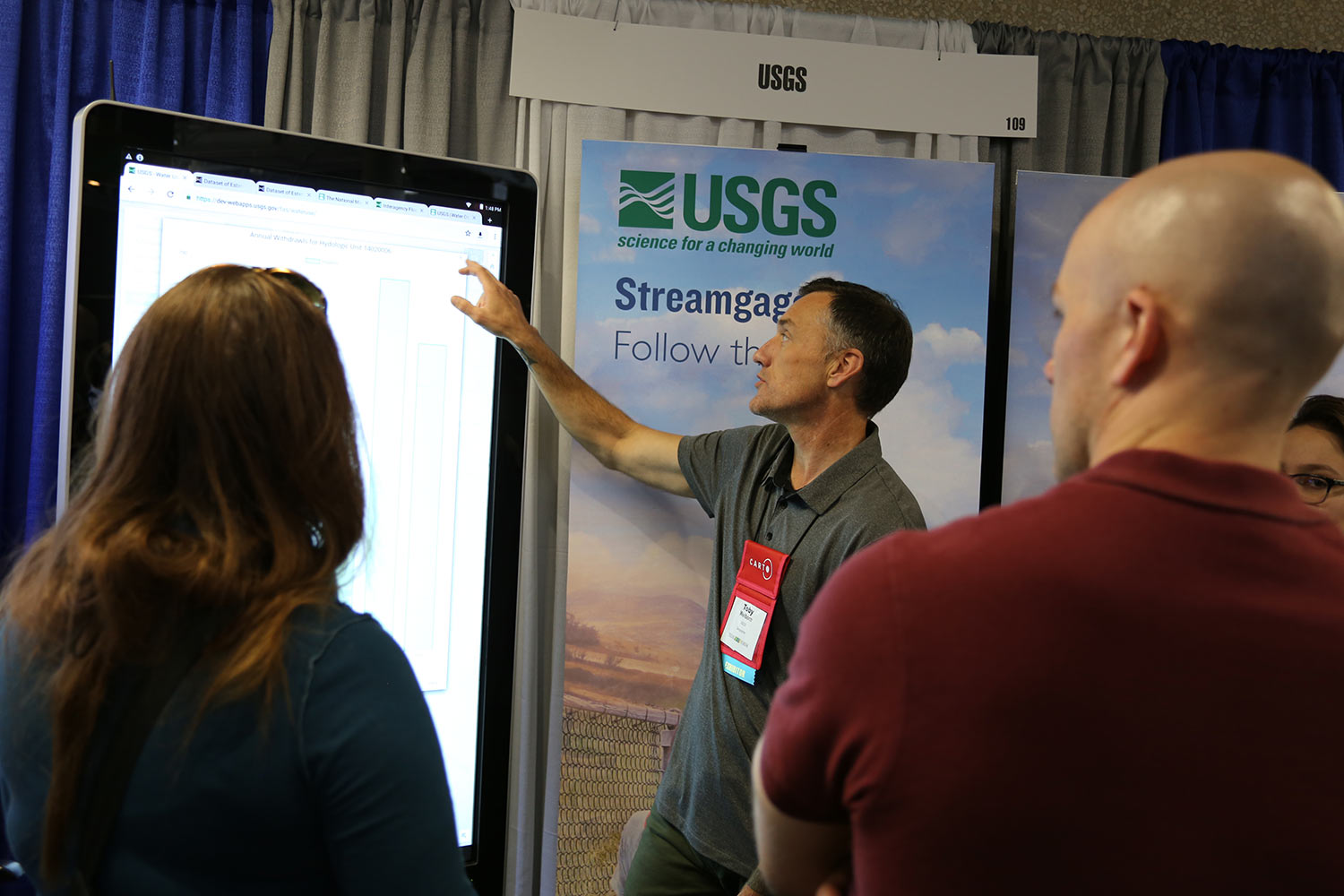 USGS booth