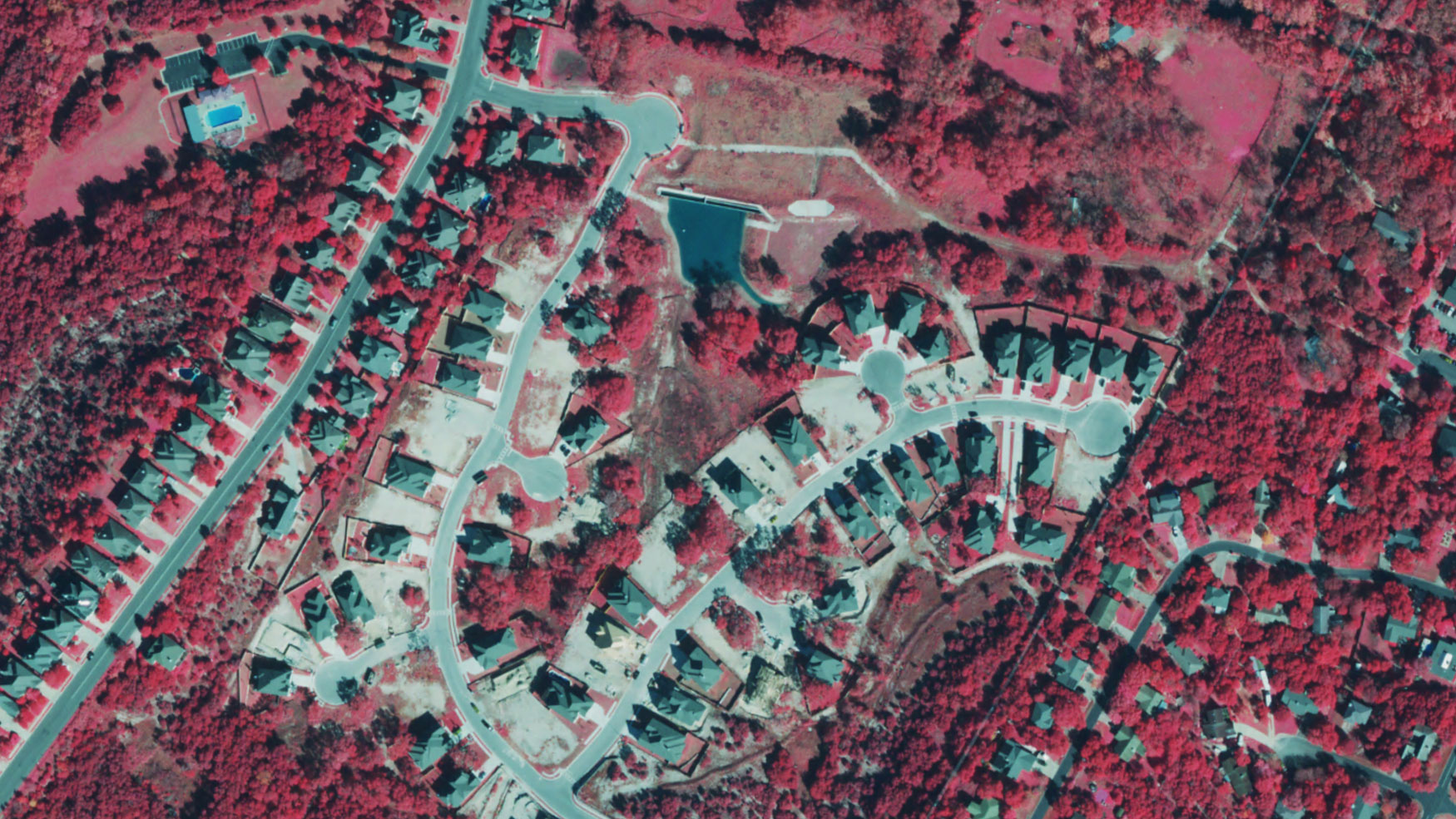 Color infra red of Neighborhood Austin