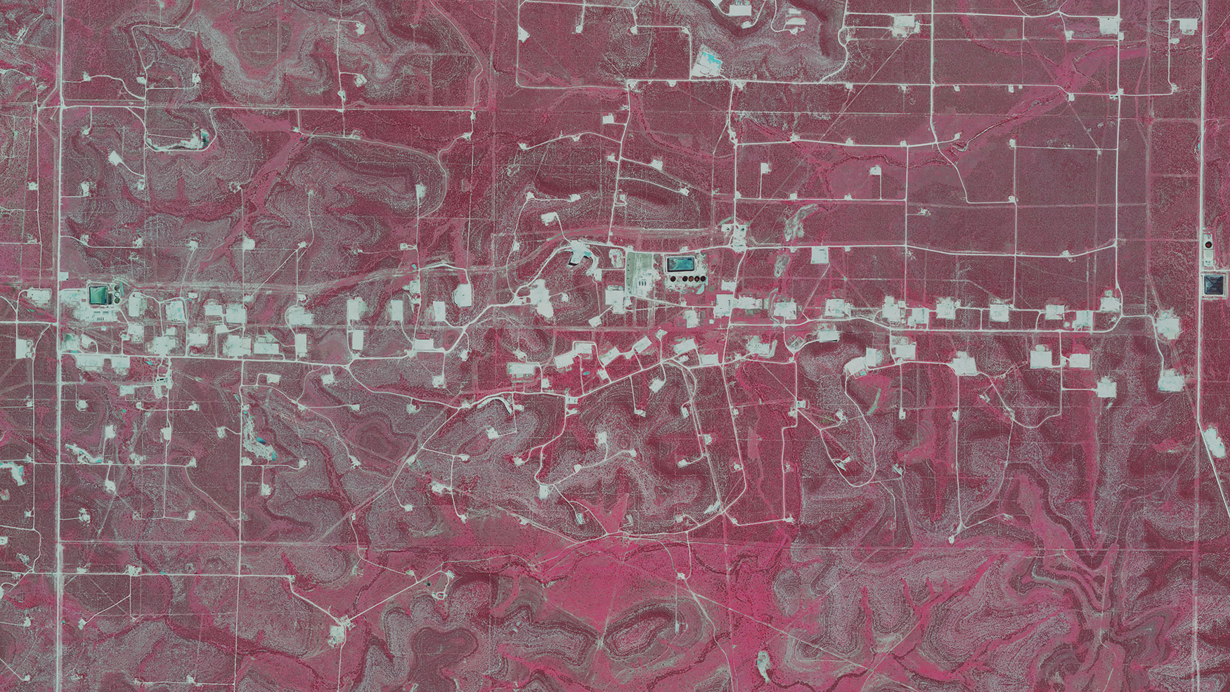 Color infra red of Irion County