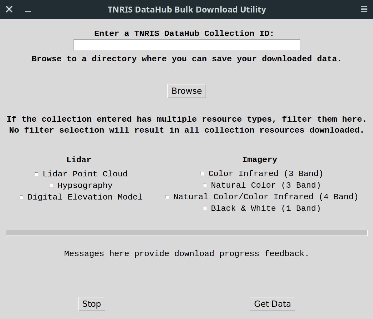 TNRIS Bulk Downloader