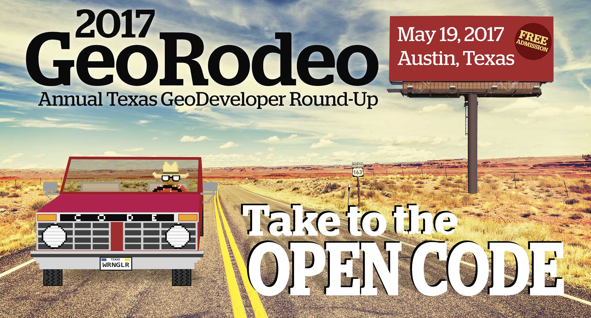 Masthead for 2017 GeoRodeo | Austin, Texas