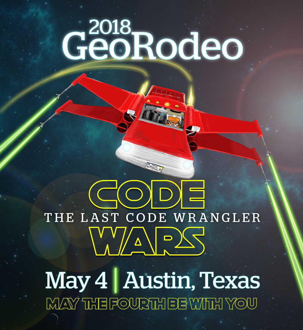 Masthead for 2018 GeoRodeo | Austin, Texas