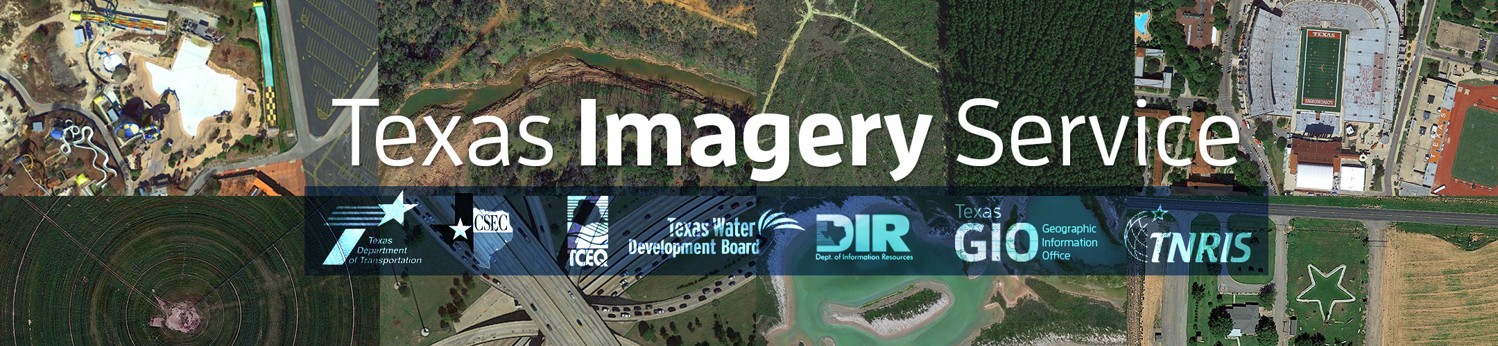 Masthead for Texas Imagery Service